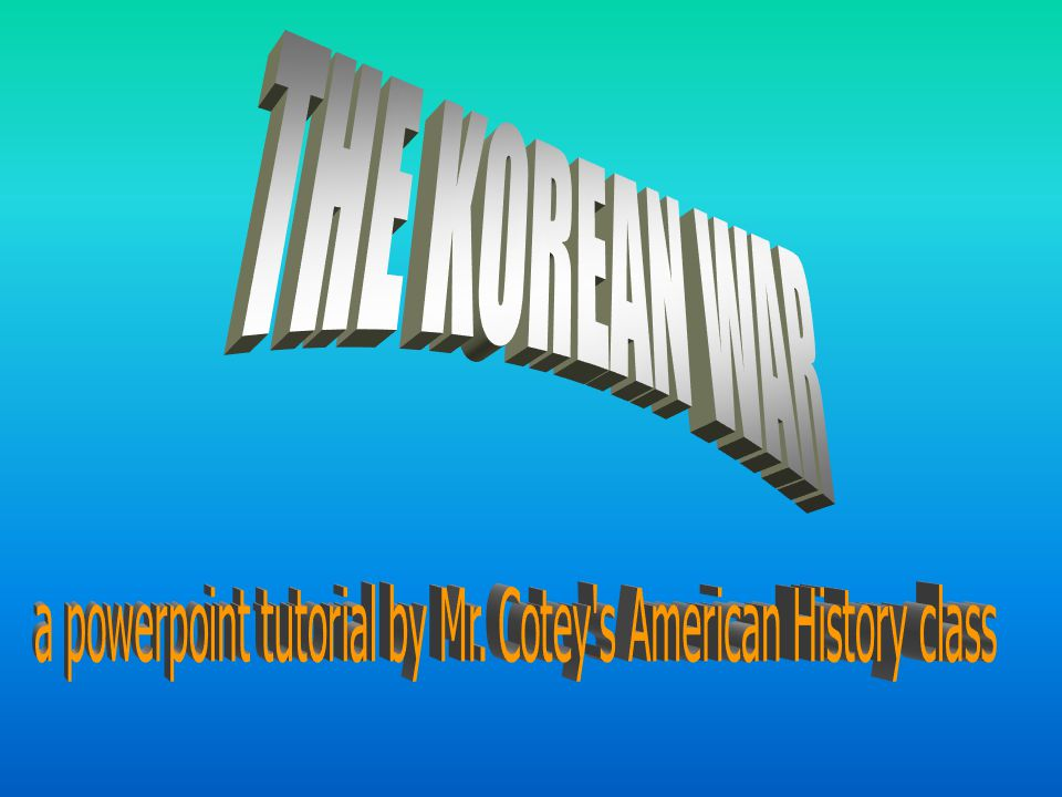 Background of The Korean War