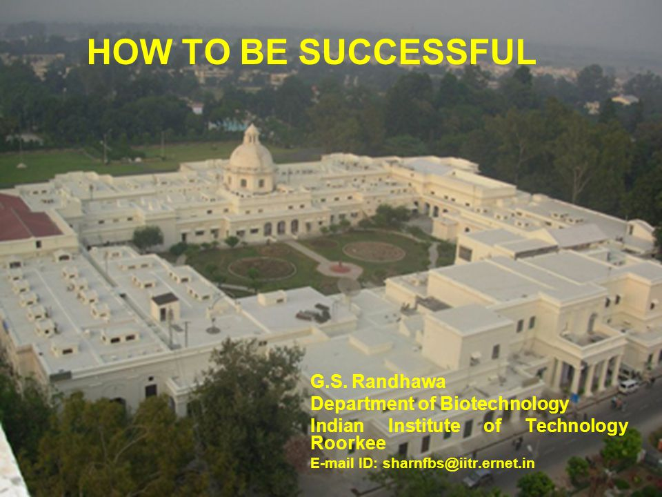 HOW TO BE SUCCESSFUL G.S.