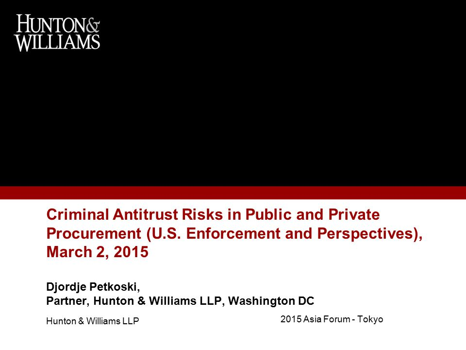 Criminal Antitrust Risks in Public and Private Procurement (U.S.