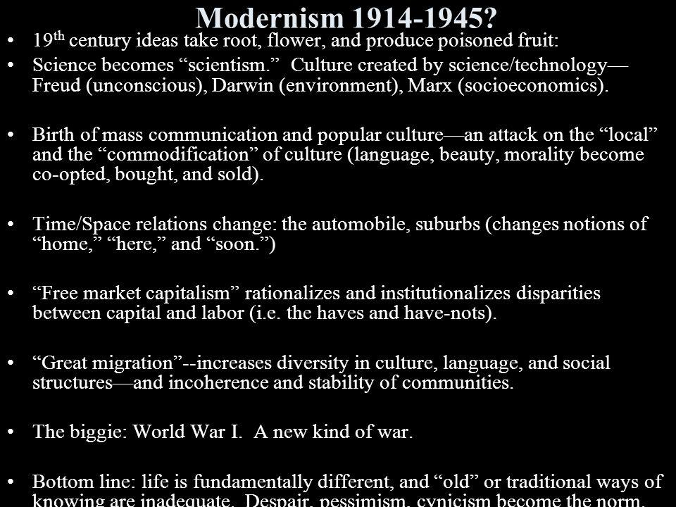 Modernism 1914-1945.