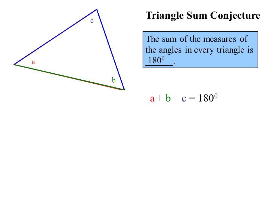 The sum of the measures of the angles in every triangle is ______.