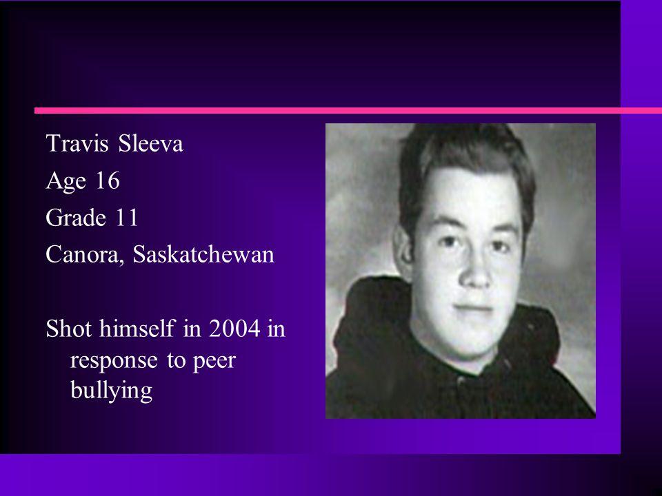 Emmett Fralick Age 14 Grade 9 St. Agnes School Halifax Nova Scotia Took his own life 8April 2002