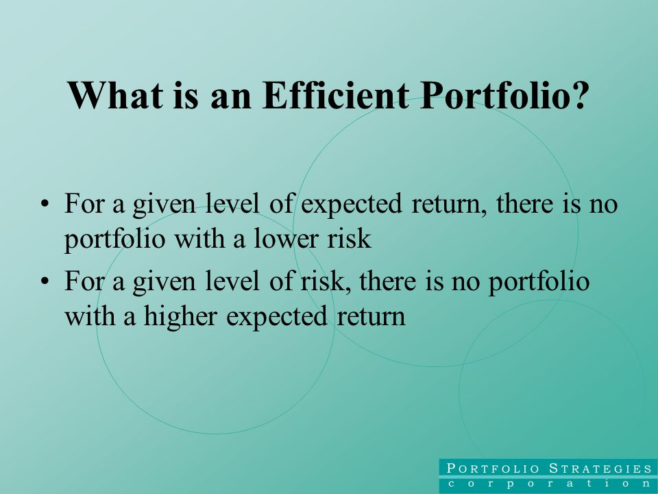 What is an Efficient Portfolio.