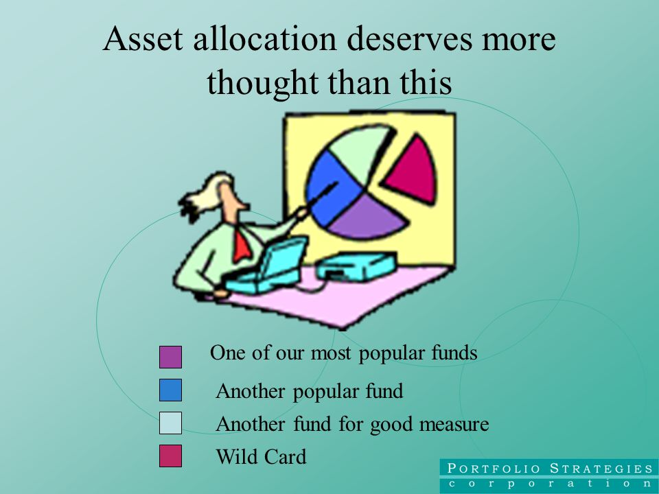 Asset allocation deserves more thought than this One of our most popular funds Another popular fund Another fund for good measure Wild Card