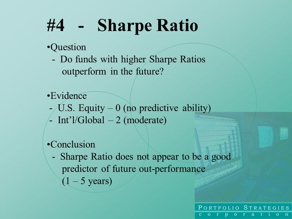 Question - Do funds with higher Sharpe Ratios outperform in the future.