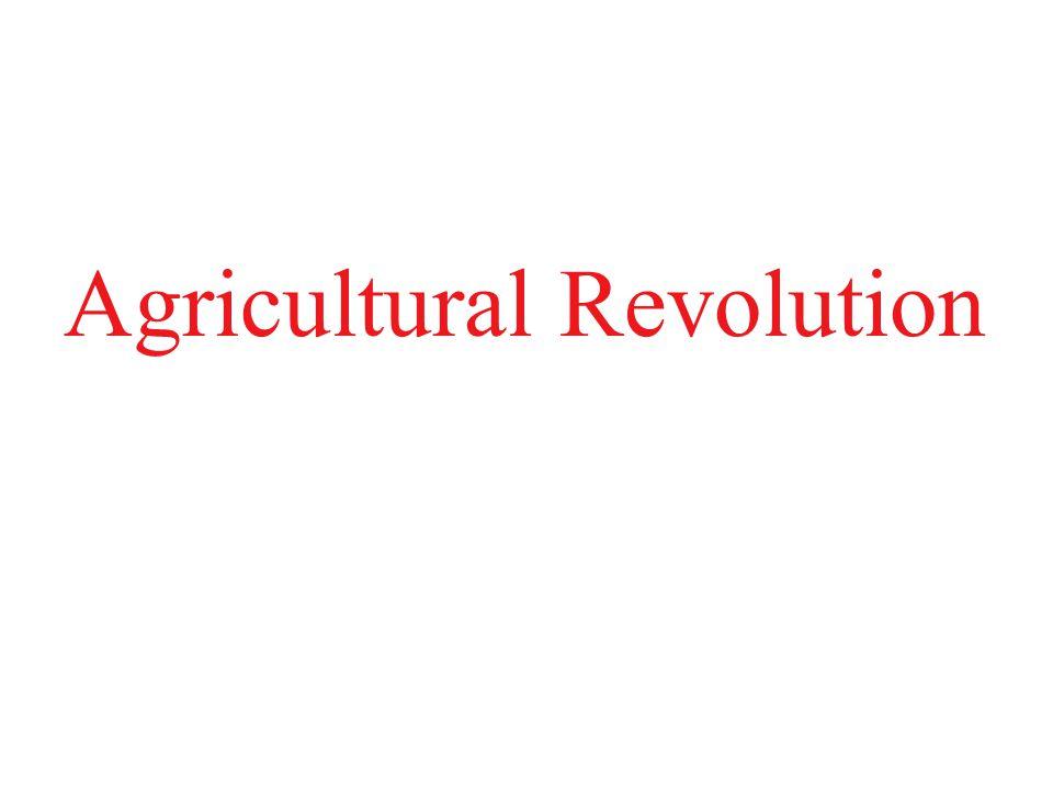 1.MORE FOOD III.Agricultural Revolution A.Enclosure – B.