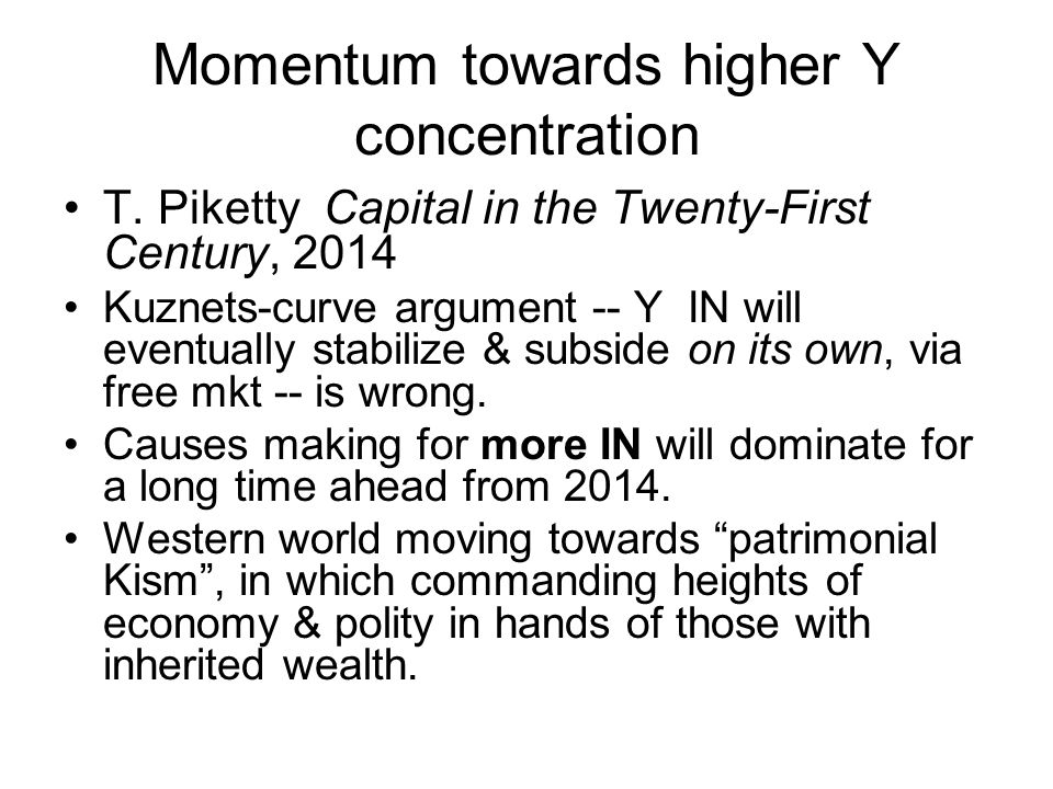 Momentum towards higher Y concentration T.