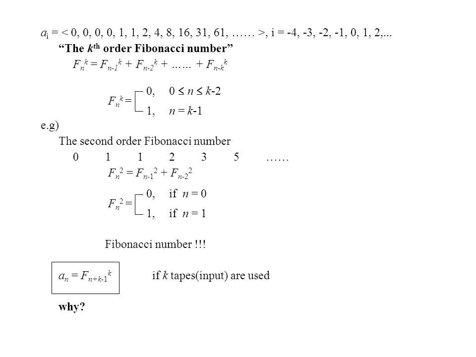 a i =, i = -4, -3, -2, -1, 0, 1, 2,...