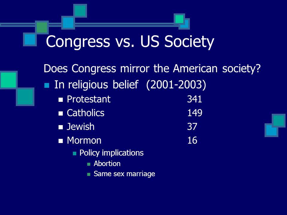 Legislative role differences Senate More deliberative Why? Less structured House of Representatives More centralized & organized Why? More routine & s