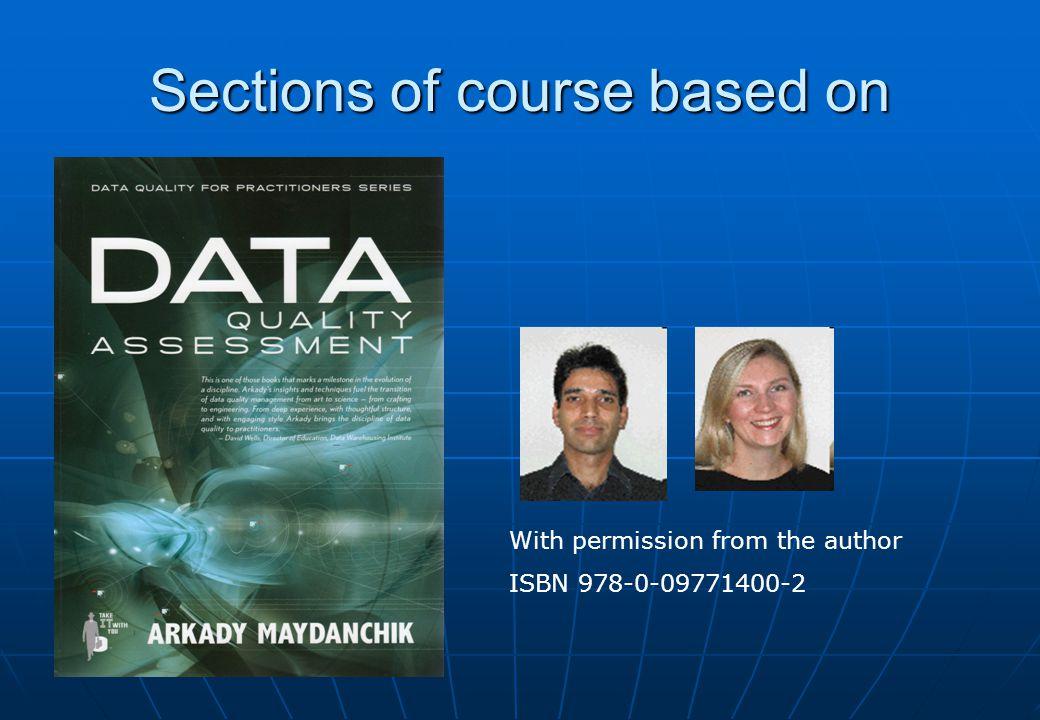 Assessing Data Quality Data profiling Data profiling Interview users Interview users Examine data model Examine data model Data Gazing Data Gazing