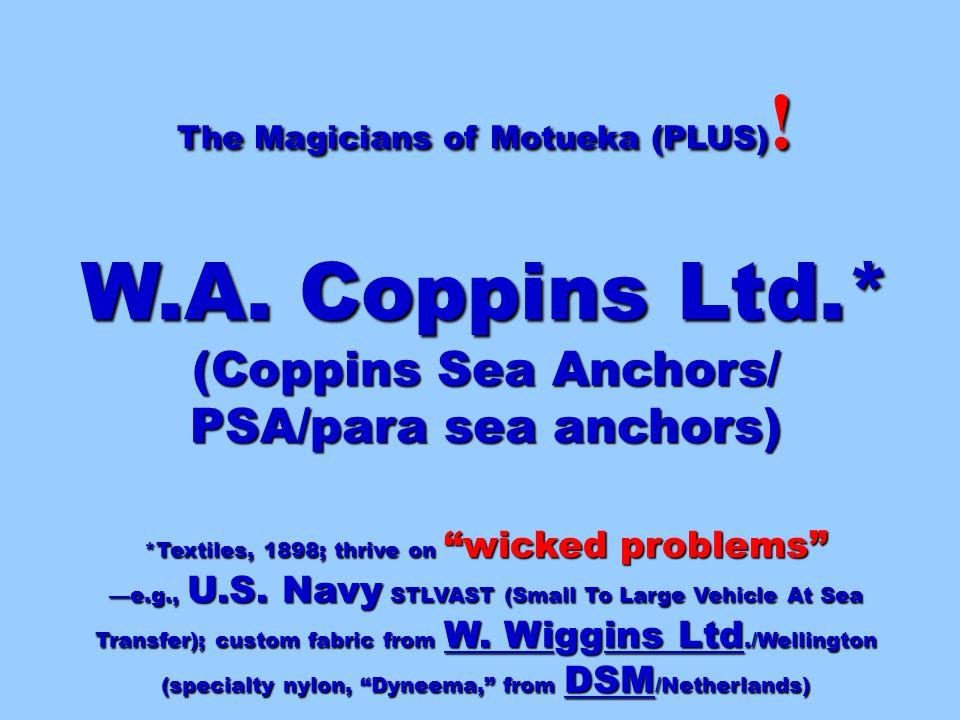 The Magicians of Motueka (PLUS) . W.A.