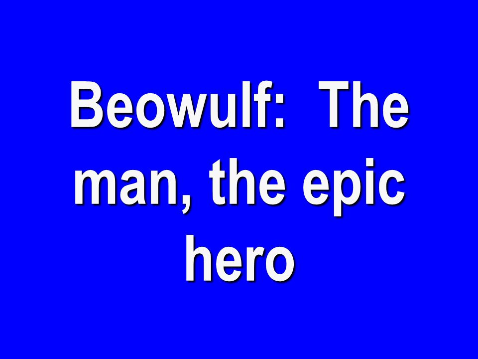 Beowulf: The Battle with Grendel