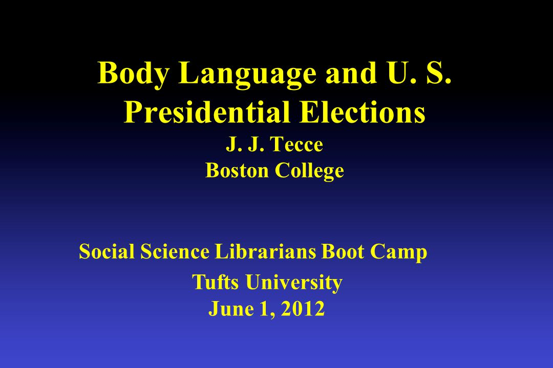 tecce@bc.edu PPT Slides Elections Report
