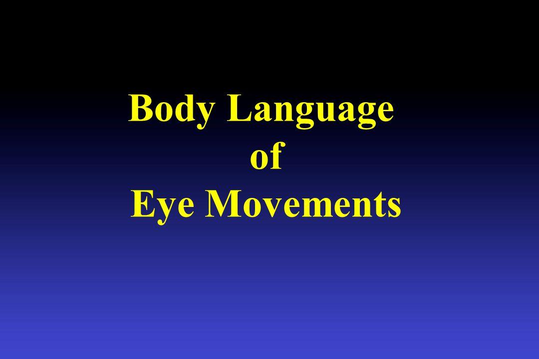 Body Language of Eye Movements