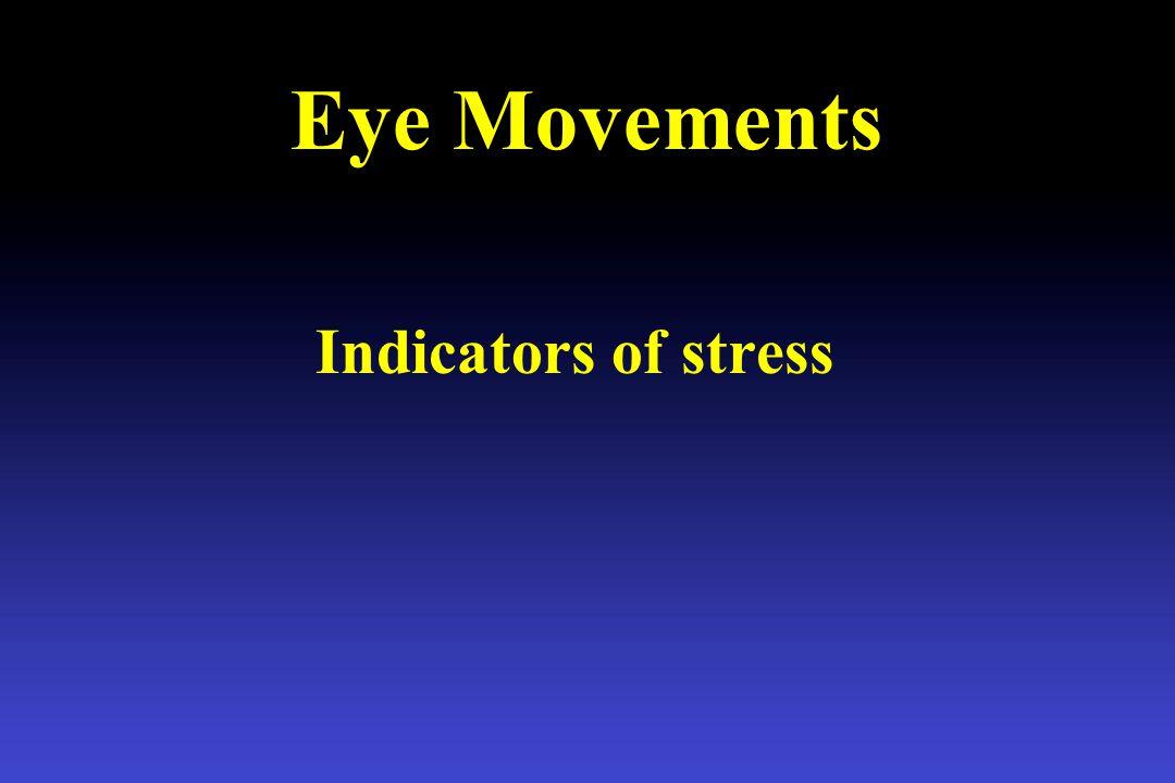 Eye Movements Indicators of stress