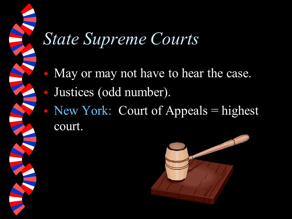 Intermediate Appellate Courts w Loser has an appeal as a right.
