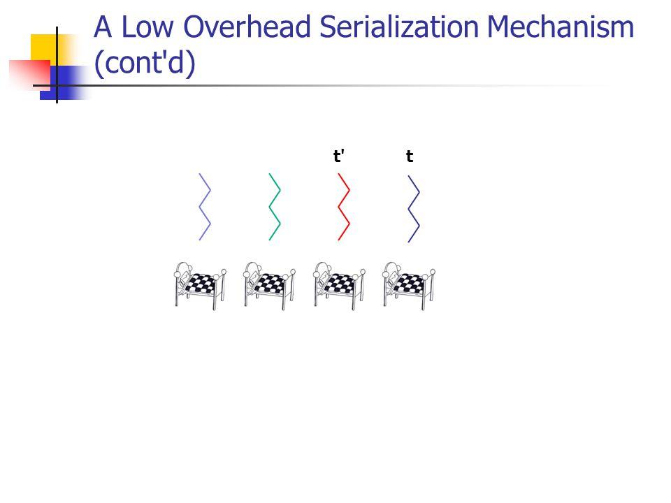 A Low Overhead Serialization Mechanism (cont d) tt