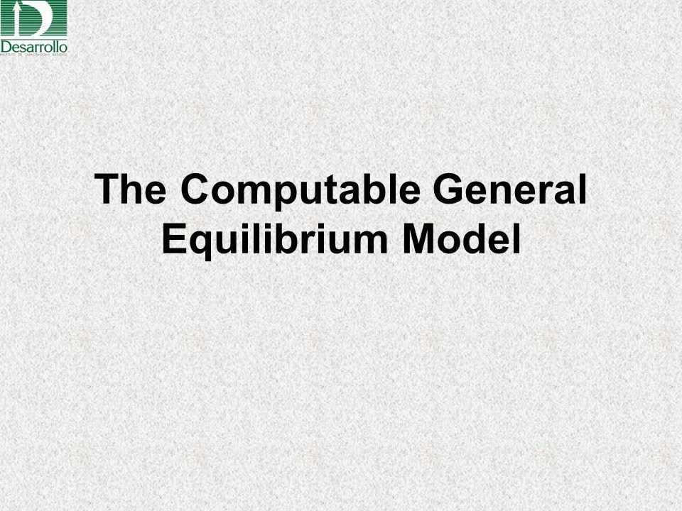 The Computable General Equilibrium Model