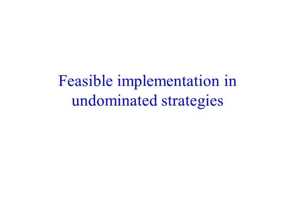 Feasible implementation in undominated strategies