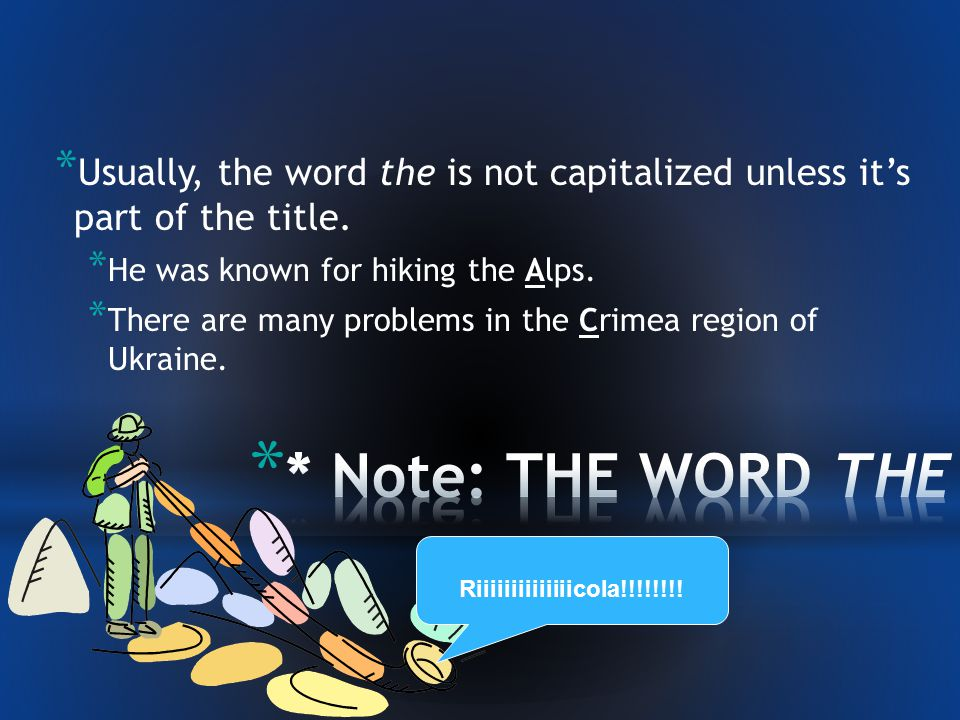 * Words that indicate direction are only capitalized if they refer to a region.