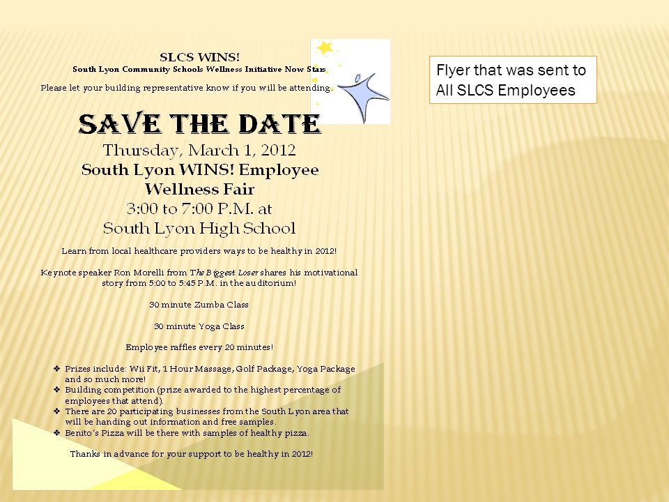 Flyer that was sent to All SLCS Employees
