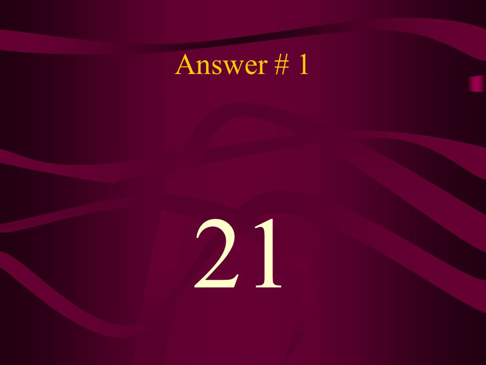 Question # 2 How many points must you win by?