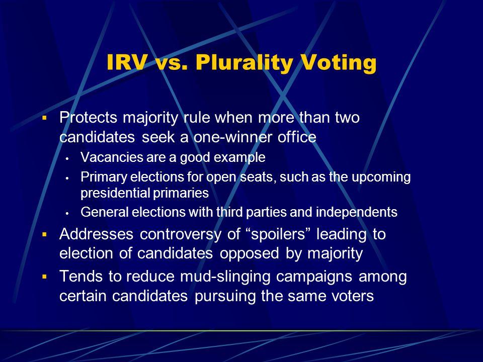 IRV Ballots vs.