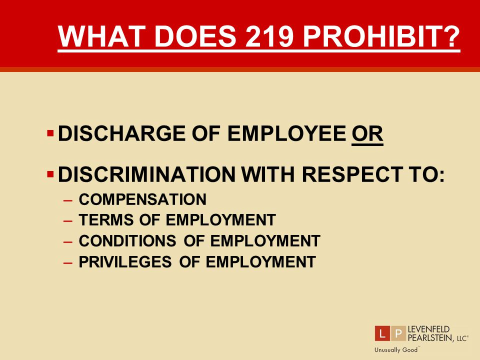 WHAT DOES 219 PROHIBIT.