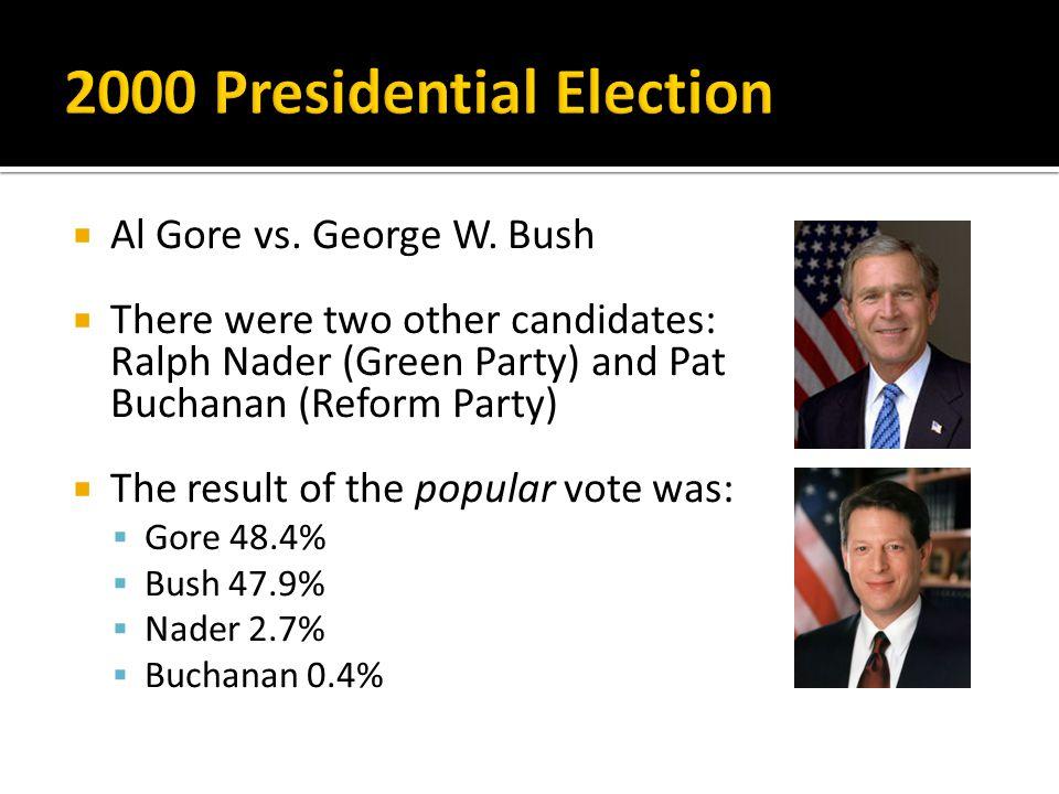  Al Gore vs. George W.
