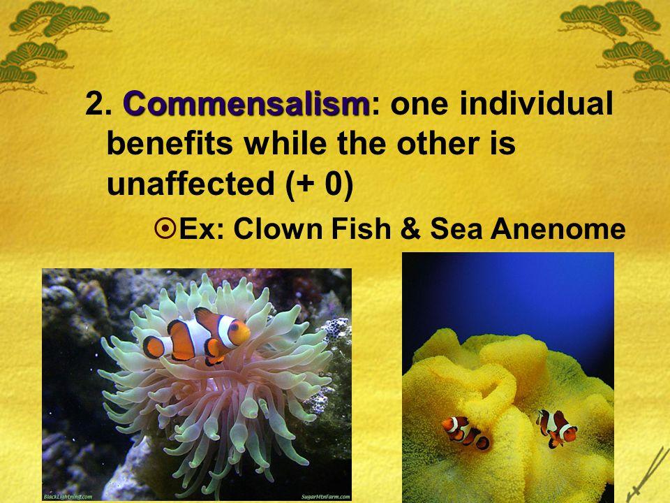Commensalism 2.