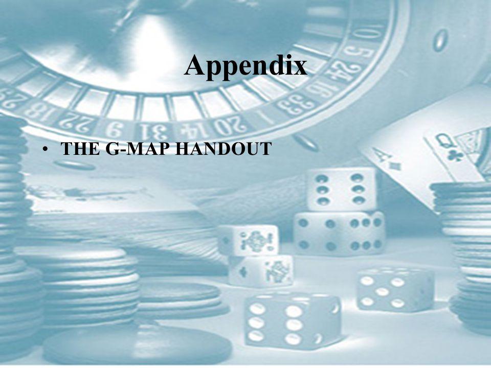 Appendix THE G-MAP HANDOUT