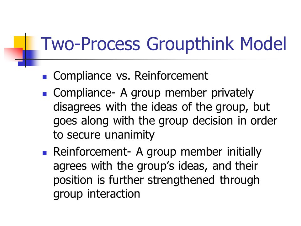 Two-Process Groupthink Model Compliance vs.
