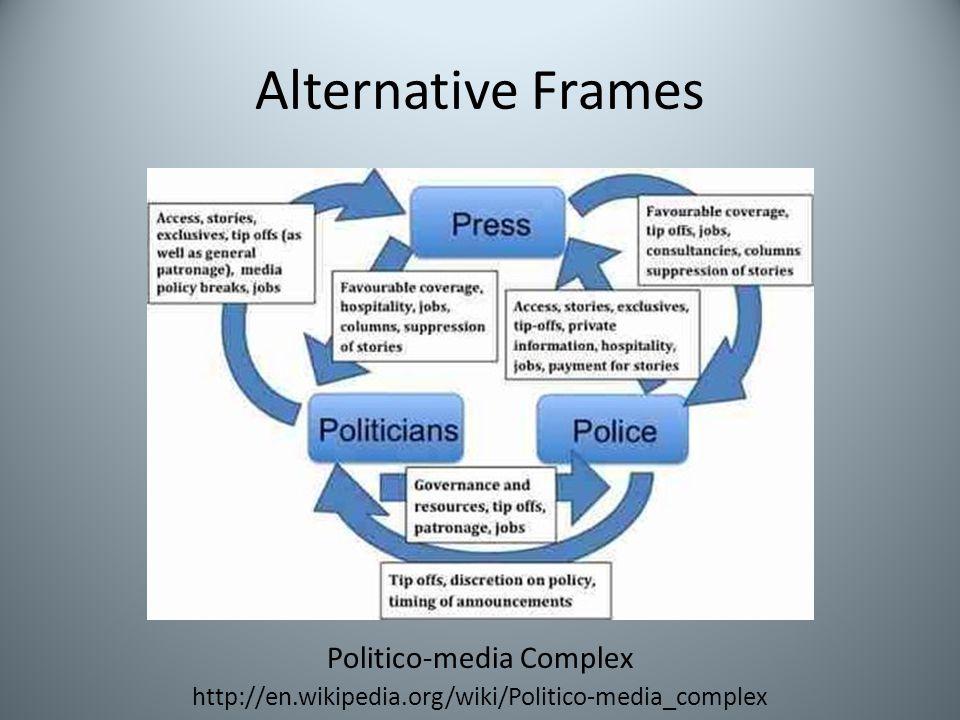 Alternative Frames Politico-media Complex http://en.wikipedia.org/wiki/Politico-media_complex
