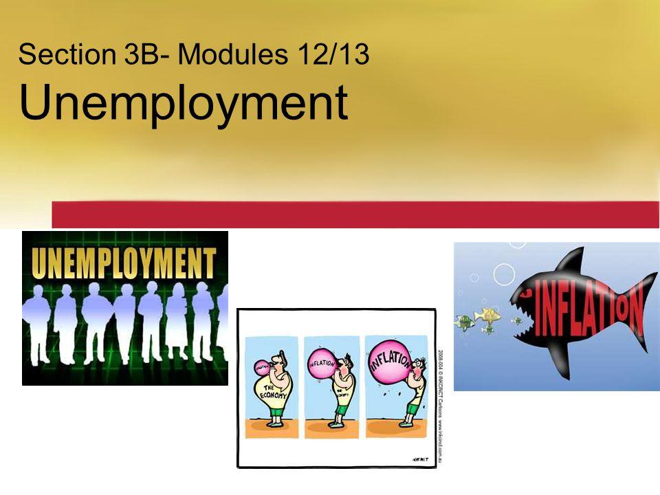 Section 3B- Modules 12/13 Unemployment