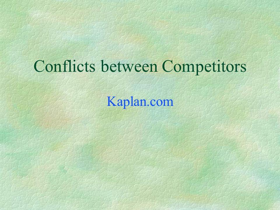 Conflicts between Noncompetitors Howard Johnson registers howardjohnson.com