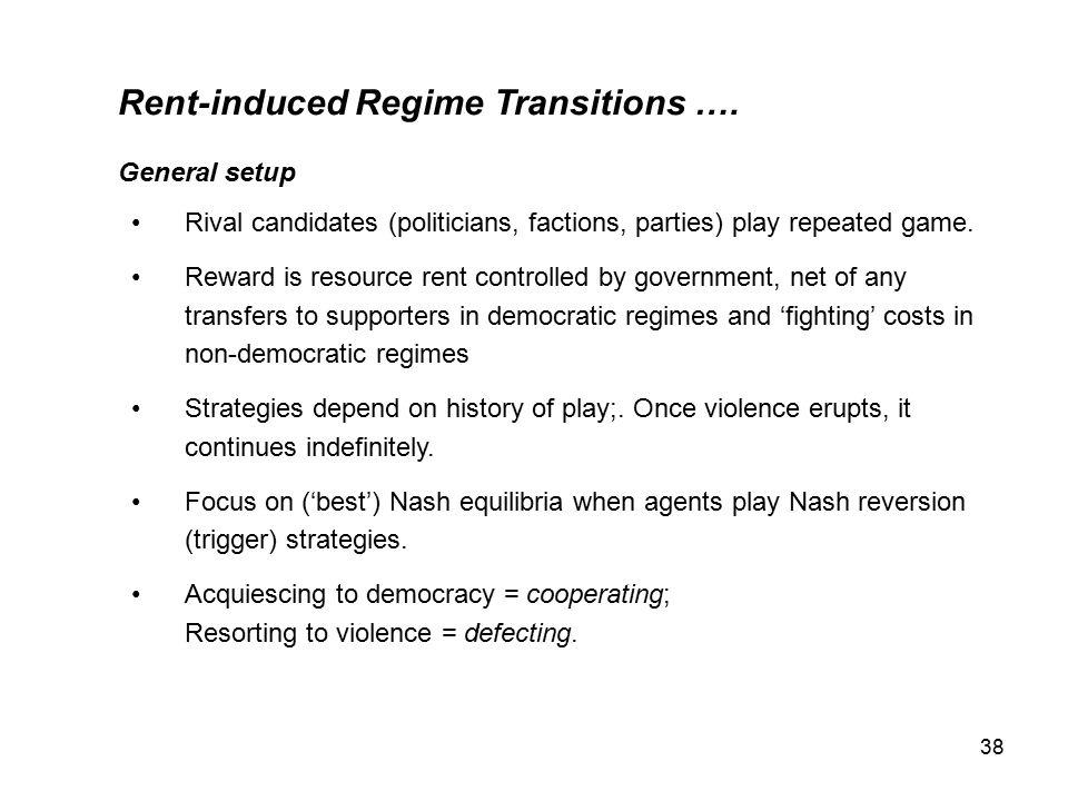 38 Rent-induced Regime Transitions ….