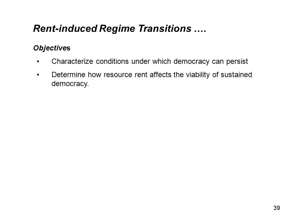 39 Rent-induced Regime Transitions ….