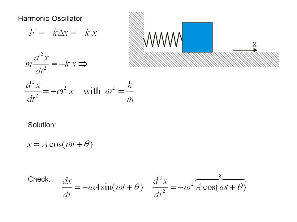 If you double the spring constant of a harmonic oscillator, the oscillation frequency: A.Decreases by 2 B.Decreases by √2 C.Does not change D.Increases by √2 E.Increases by 2