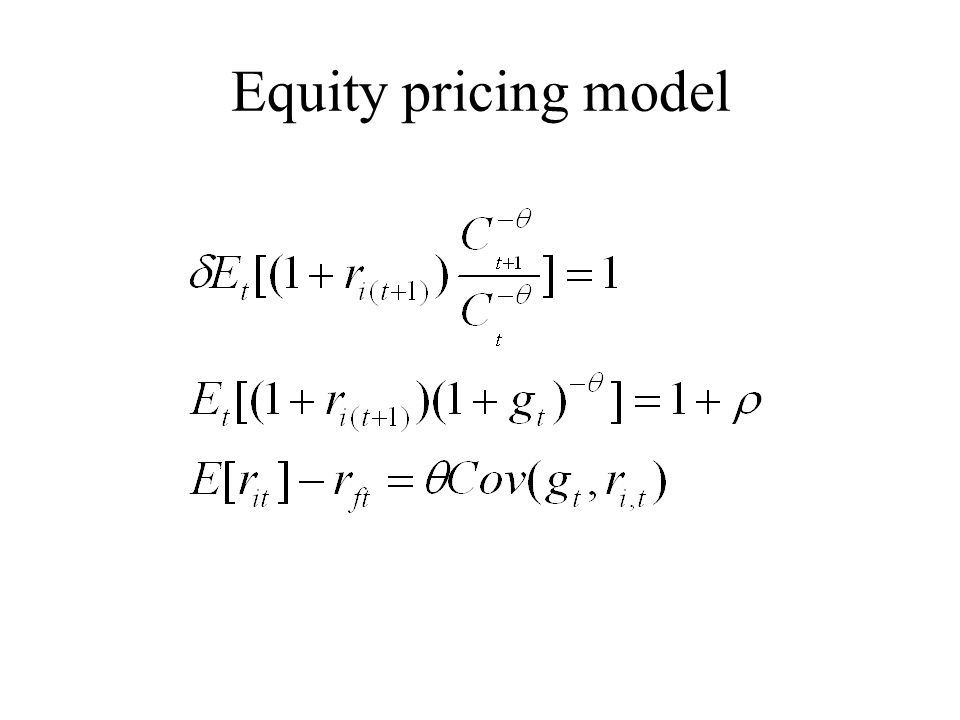 Equity pricing model