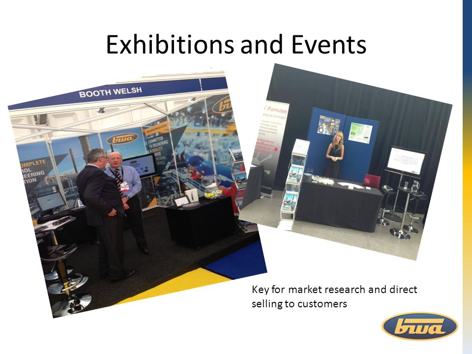 Exhibitions and Events Key for market research and direct selling to customers