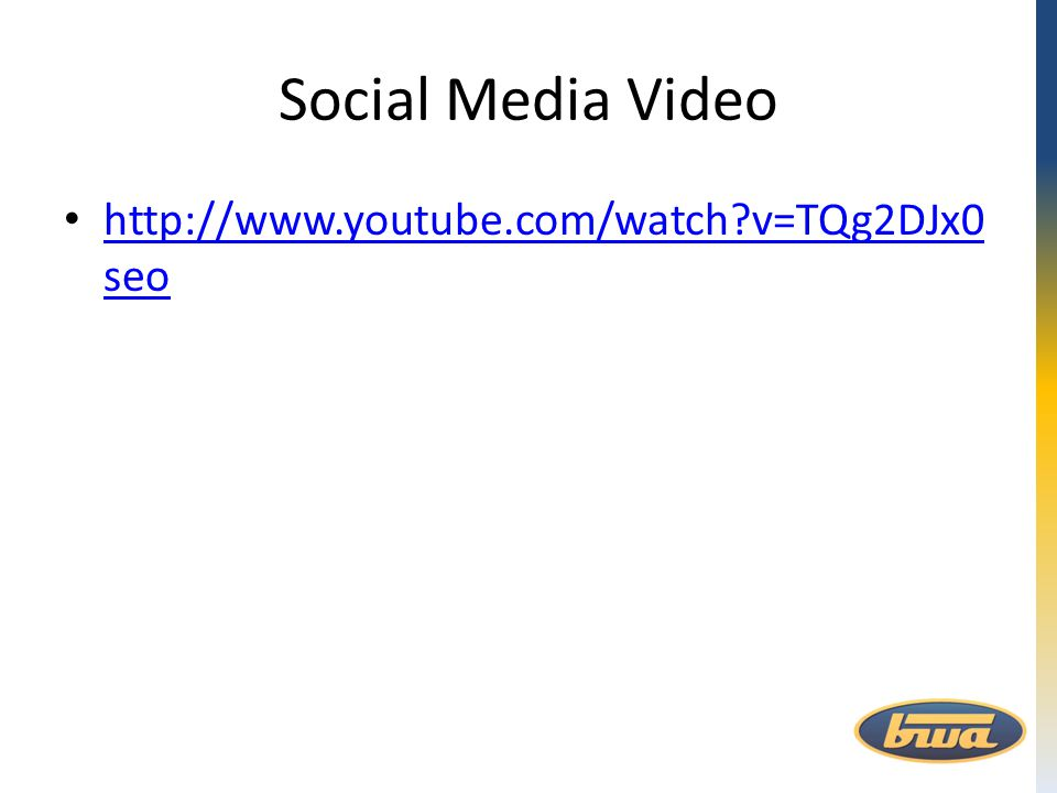 Social Media Video http://www.youtube.com/watch?v=TQg2DJx0 seo http://www.youtube.com/watch?v=TQg2DJx0 seo