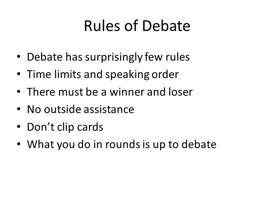 Role of Theory in Debate Establishes best practices for the debate round A way for debaters to object when the other team does something sketchy Debate theory is a normative statement of what debate should be like All theory arguments focus on the question of what would be best for debate
