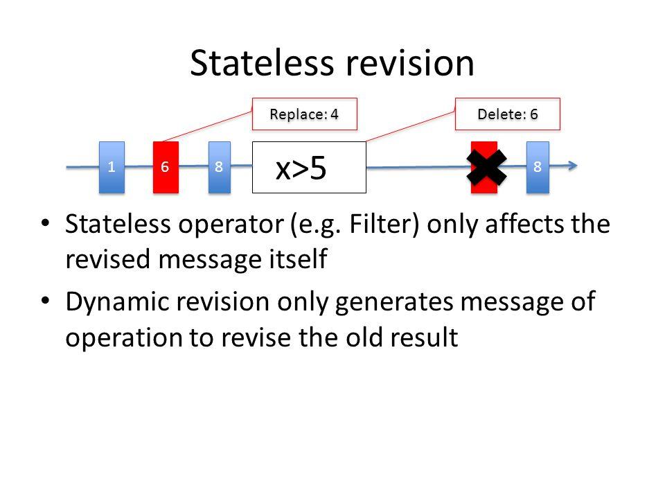 Stateless revision Stateless operator (e.g.
