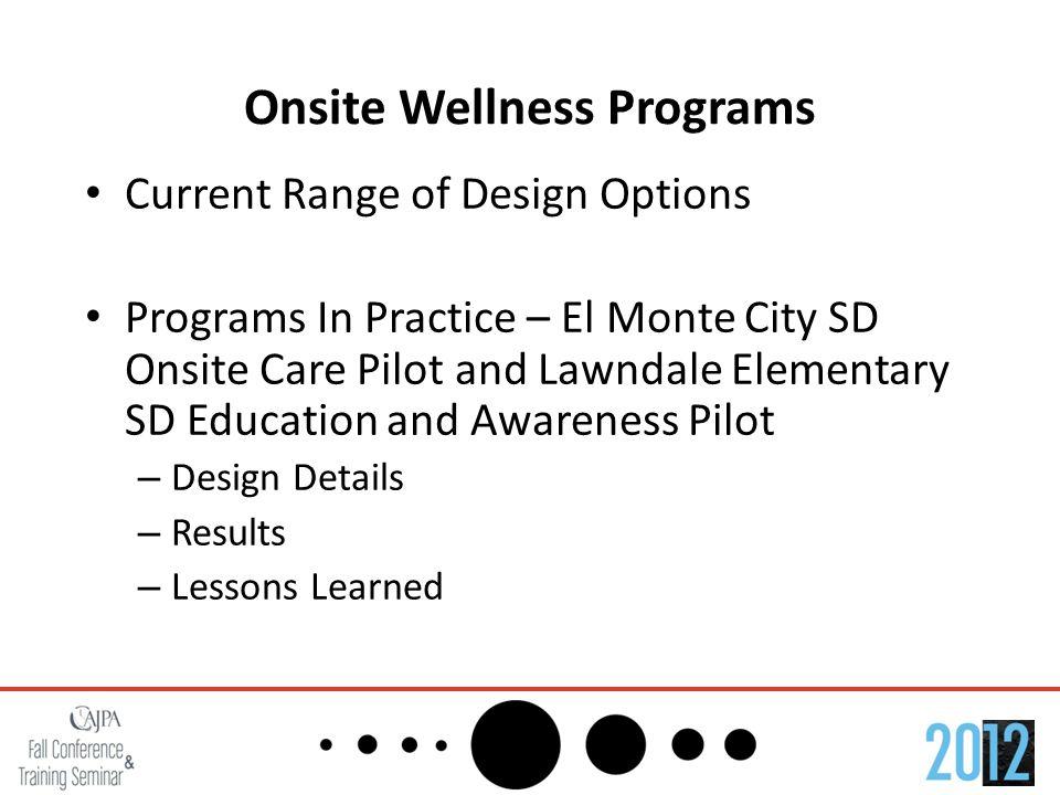 Onsite Wellness Programs Employers: Why Do it.