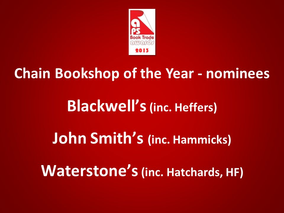 Chain Bookshop of the Year - nominees Blackwell's (inc.