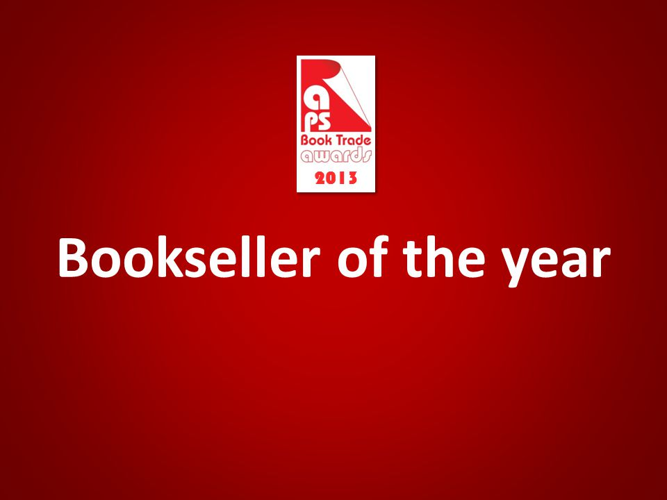 Bookseller of the year 2013