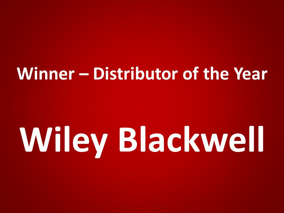 Winner – Distributor of the Year Wiley Blackwell
