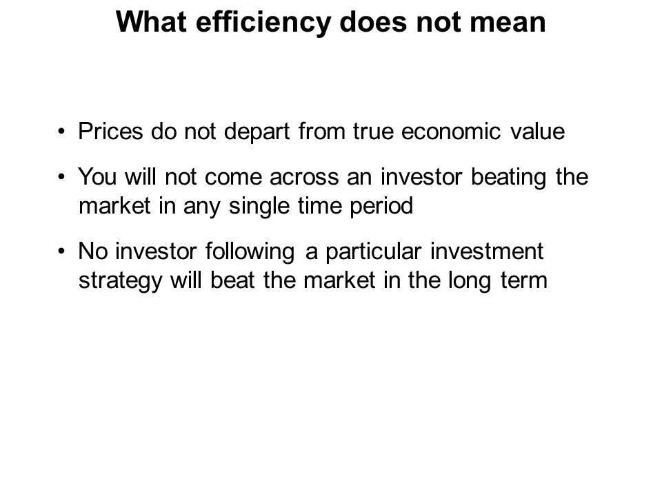 Types of efficiency 1 Operational efficiency 2 Allocational efficiency 3 Pricing efficiency