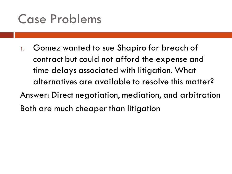 Case Problems 1.