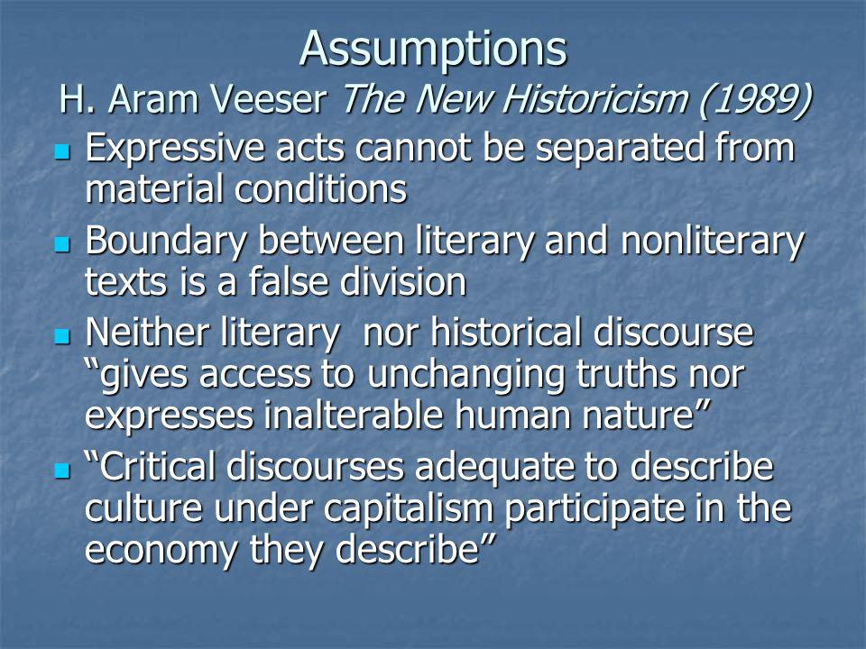 Assumptions H.